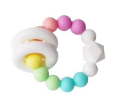 Everything Rattle Teether | Blush Pink