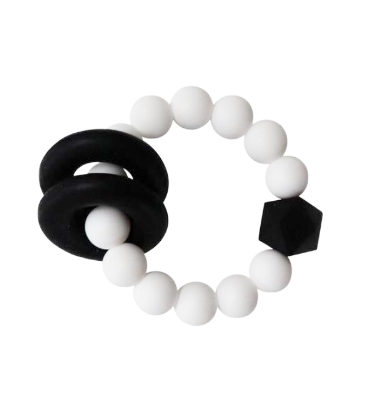 Halo Teether | White + Black