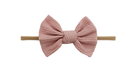Big Velvet Skinny Bow | Cotton Candy