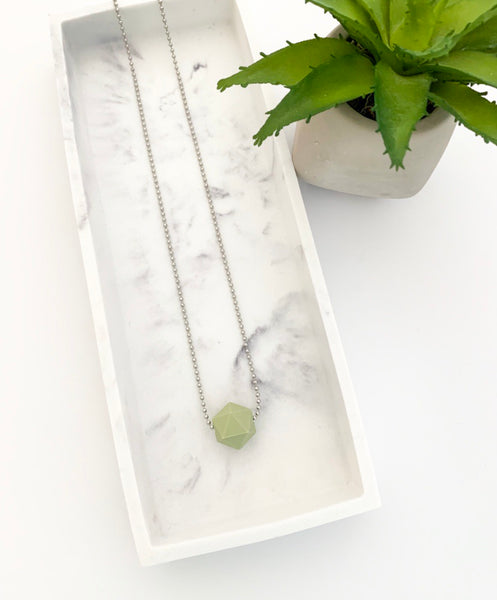 Silver Chain Teething Necklace | Sage