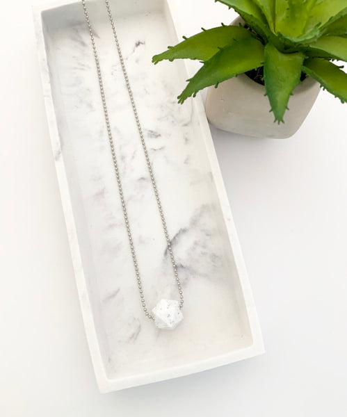 Silver Chain Teething Necklace | Speckled
