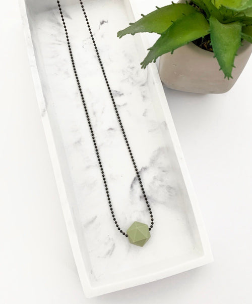 Black Chain Teething Necklace | Sage