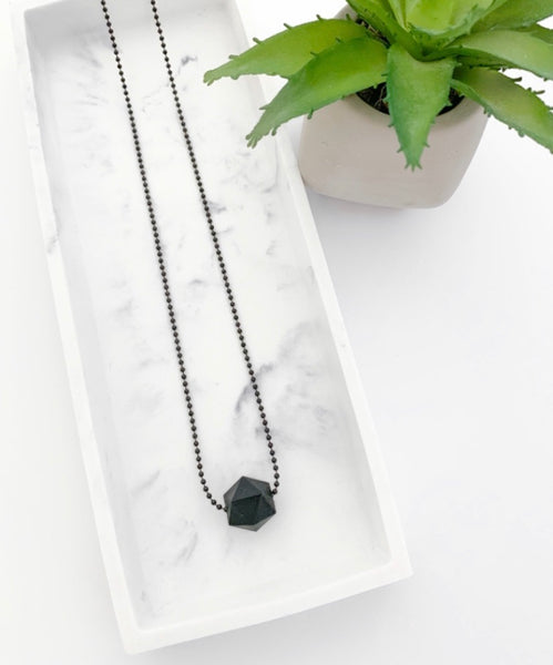 Black Chain Teething Necklace | Black