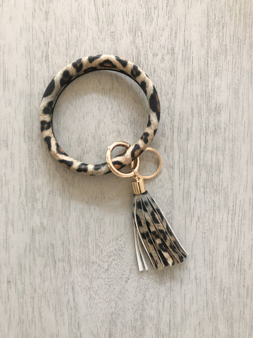 Key Ring Bracelet | Leopard