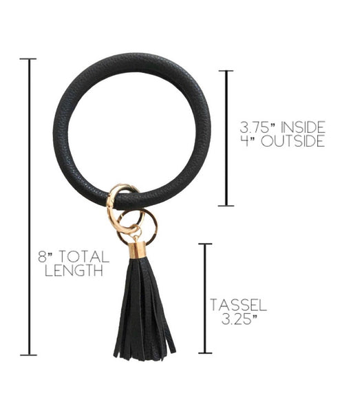 Key Ring Bracelet | Black