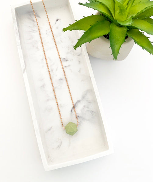 Rose Gold Chain Teething Necklace | Sage