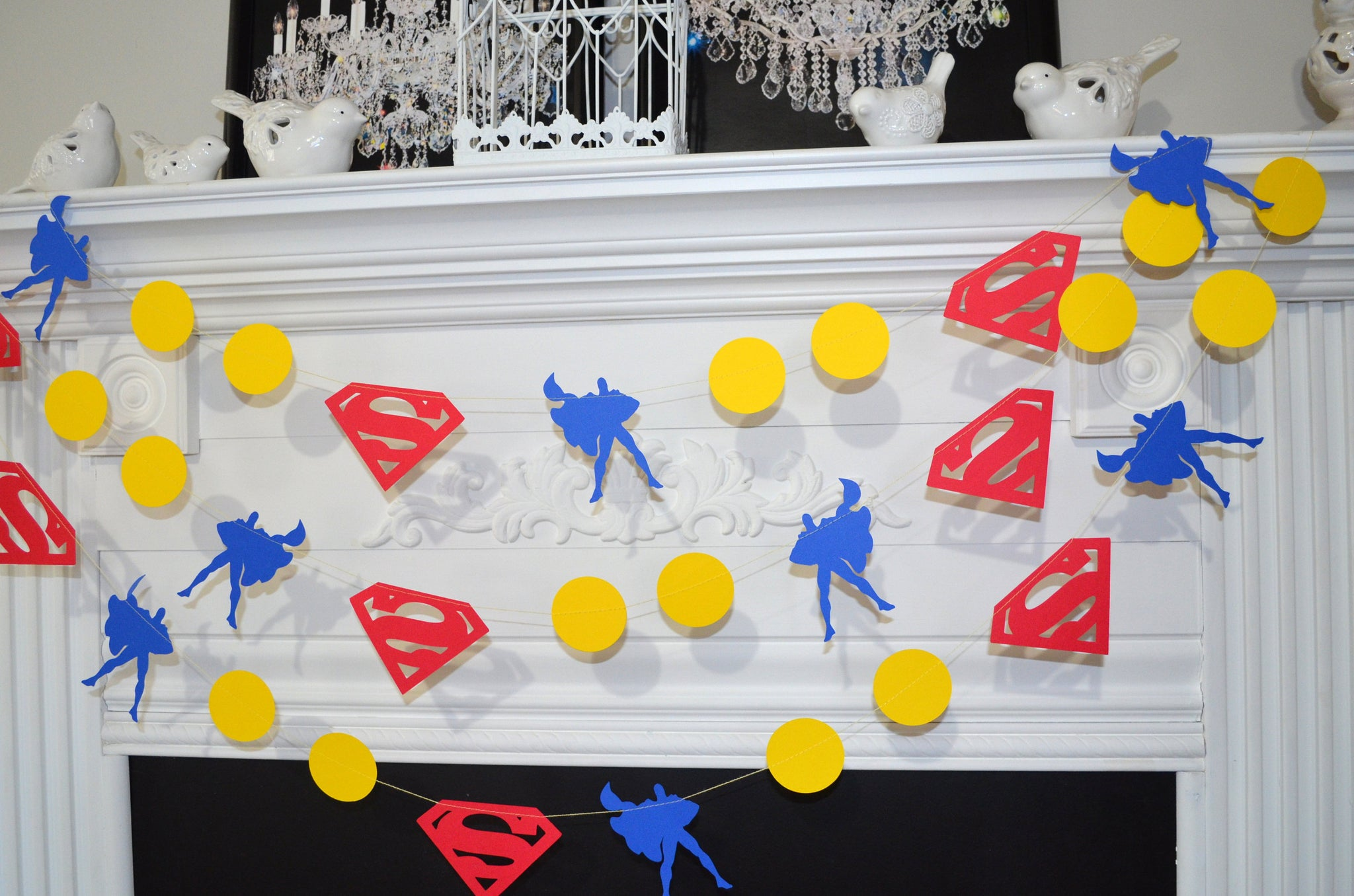 Superman Garland Super Man inspired banner Super Man Birthday