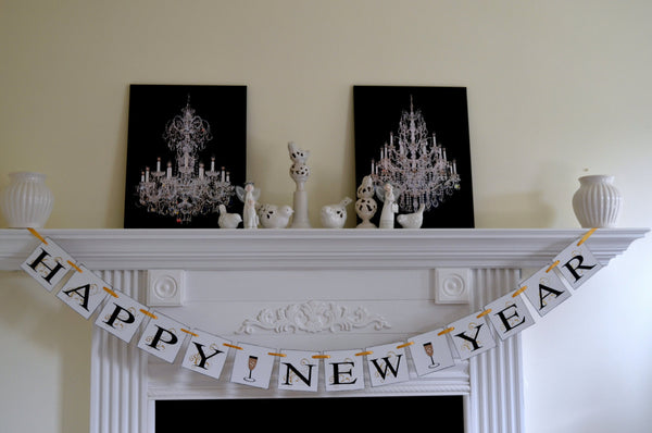 happy new year 2018 banner new year garland new years eve party decorations new year