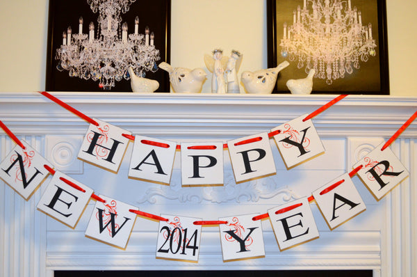 happy new year banner new years eve decorations new year garland new years