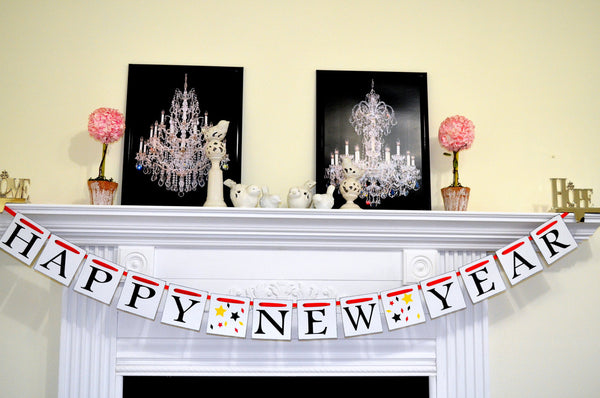 happy new year banner new years garland new year party decorations photo prop
