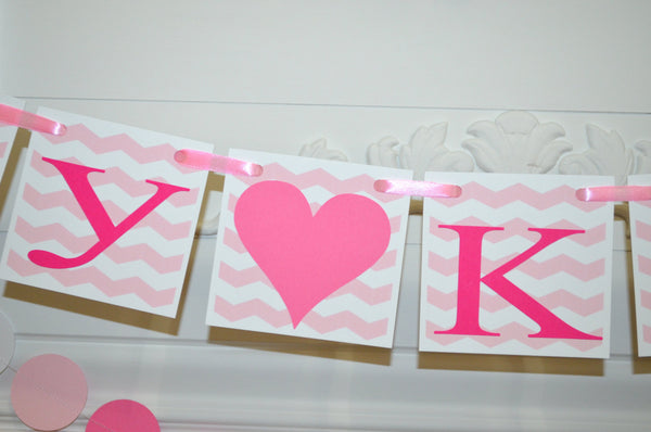 baby shower banner pink name chevron it s a girl banner pink