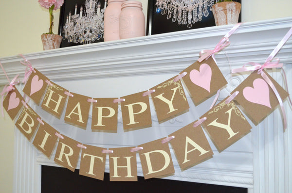 Happy Birthday Banner Princess Pink 30th 40th 50 60th 70th 80