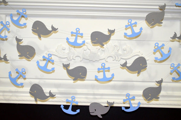 Whale Decorations Whale Baby Shower Whale Garland Baby Boy