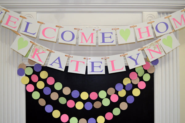 baby shower decor welcome home baby banner and garland set winnie the pooh decor