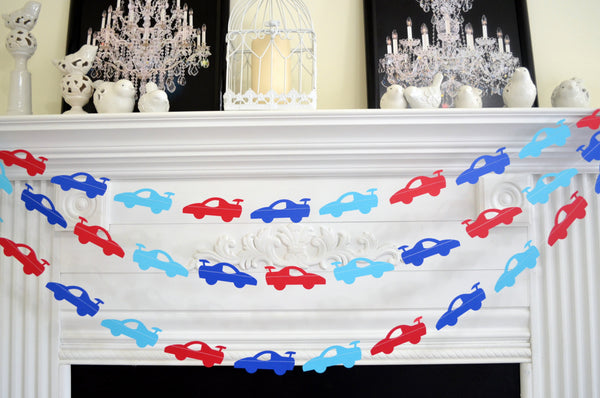 Cars Garland Race Car Birthday Decorations Baby Boy First 1st