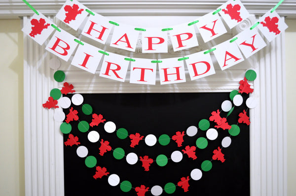 christmas birthday banner winter birthday high chair banner winter onederland banner santa garland