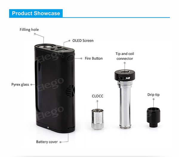 The Kanger Cupti. all-in-one E Liquid device 75WKit (Diagram)