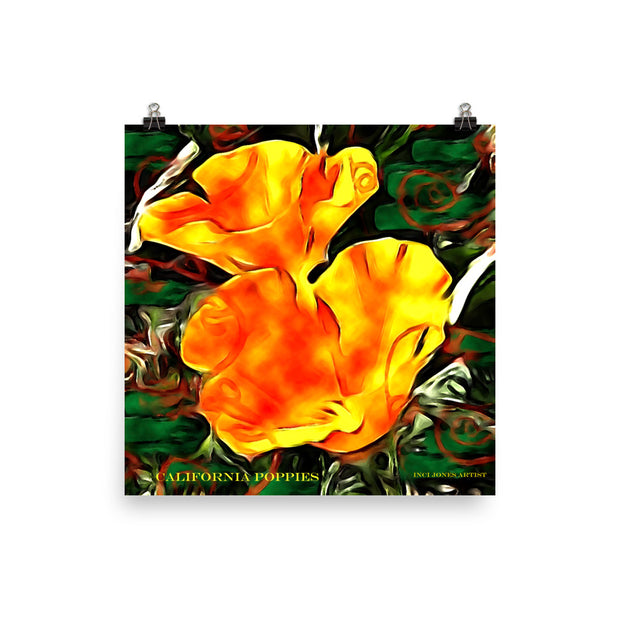 California Poppies - Art Poster