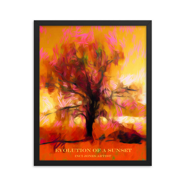 Evolution of a Sunset - Art Poster Framed