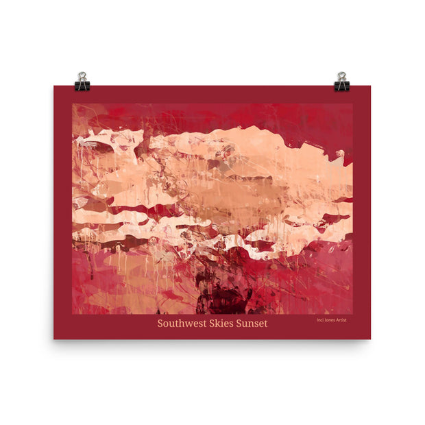 Southwest Skies Sunset - Art Poster