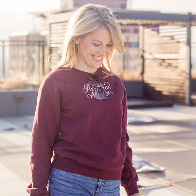Maroon Airplane Mode Sweatshirt