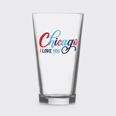 Chicago I Love You Pint Glass