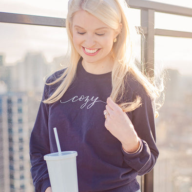 Navy Cozy Sweatshirt
