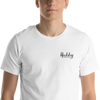 Hubby Embroidered T-Shirt in White