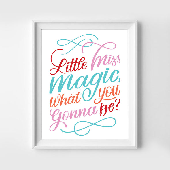 Little Miss Magic Art Print