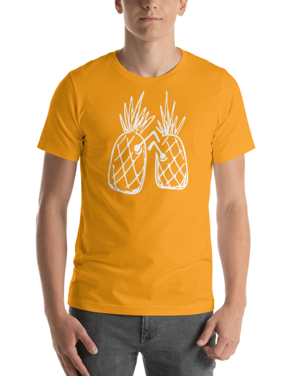 Party Pineapples T-Shirt in Gold