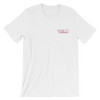 Taken Embroidered Red Design T-Shirt in White