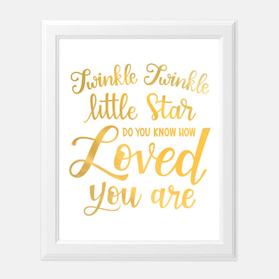 Twinkle Twinkle Little Star Gold Foil Art Print