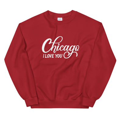 Red Chicago I Love You Sweatshirt