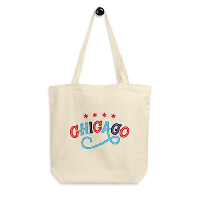 Chicago Swirl Tote Bag