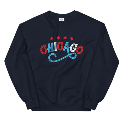 Navy Chicago Swirl Sweatshirt