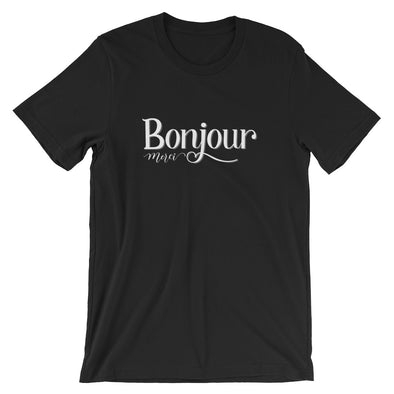 Bonjour Merci T-Shirt in Black