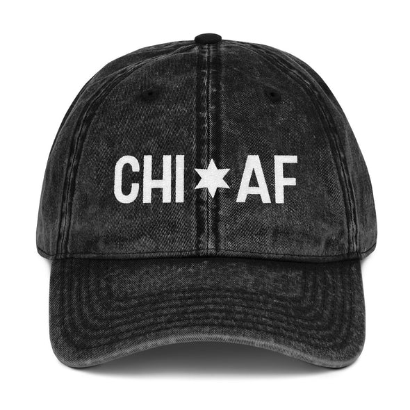Black Chicago AF vintage hat