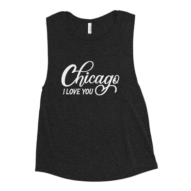 Black Chicago I Love You Workout Tank Top