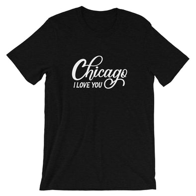 Black Chicago I Love You T-Shirt