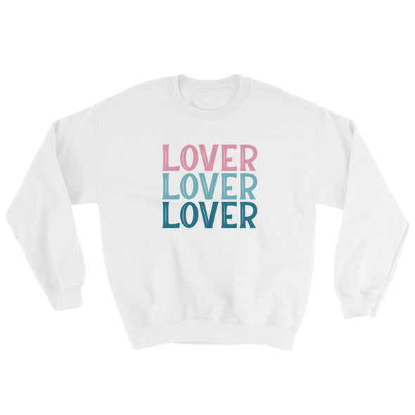 Lover Sweatshirt in Pink and Blues