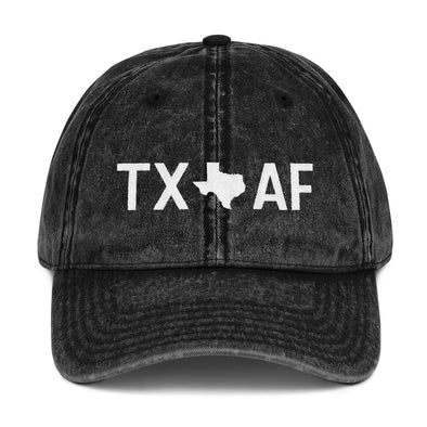 Texas AF vintage hat in black