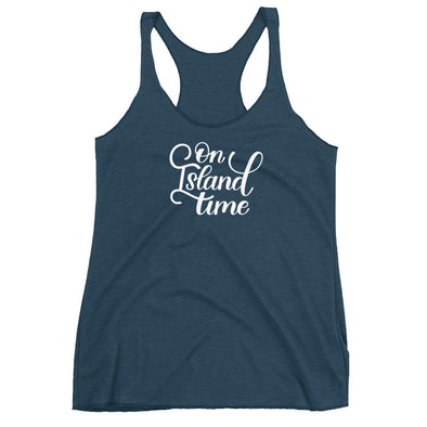 On Island Time Tank Top in Navy
