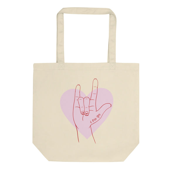 I Love You Sign Language Tote Bag