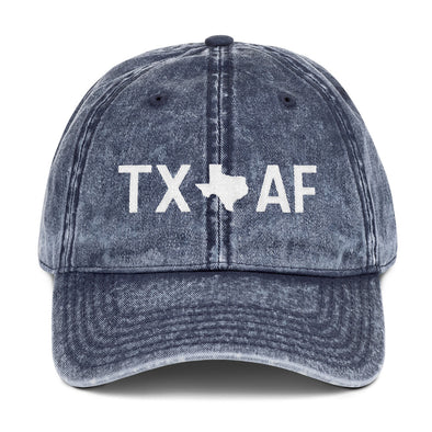 Texas AF vintage hat in blue