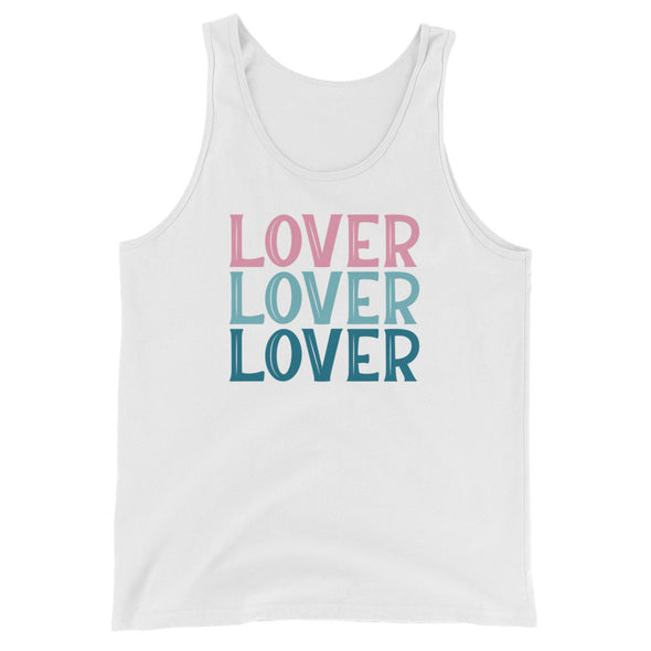 Lover Tank Top in Pink and Blue