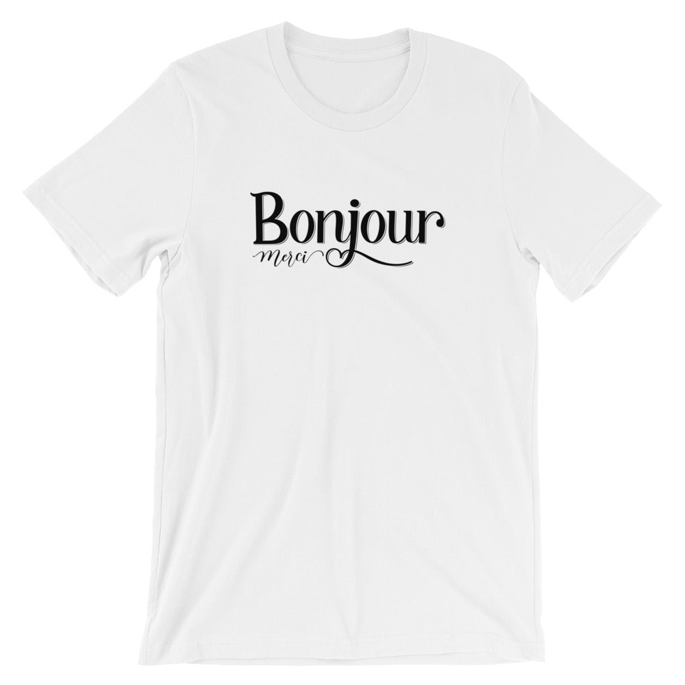 a75a08f9a Bonjour Merci T-Shirt – Stranded On Saturday
