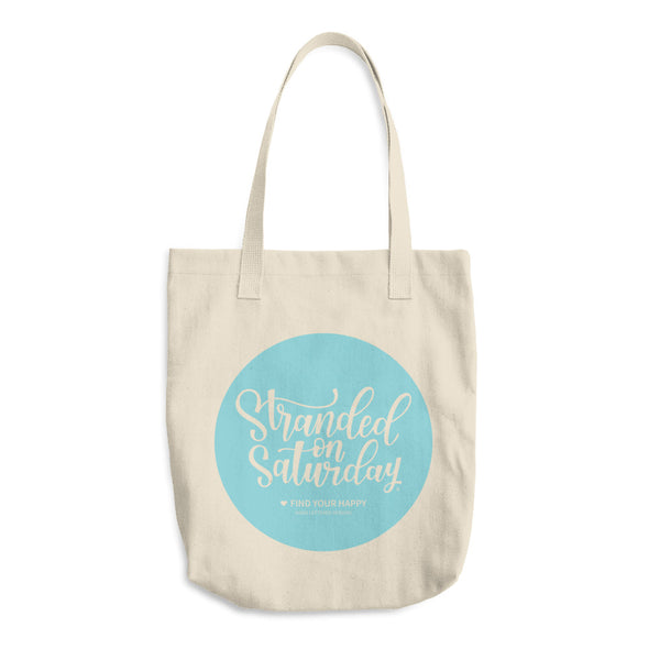 Stranded On Saturday Hand lettered Tote Bag