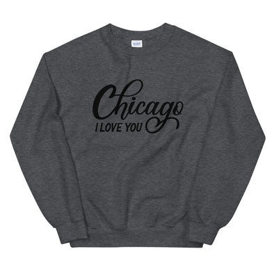 Grey Chicago I Love You Sweatshirt