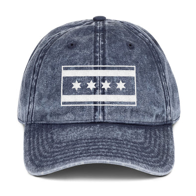 Vintage Blue Chicago Flag Hat