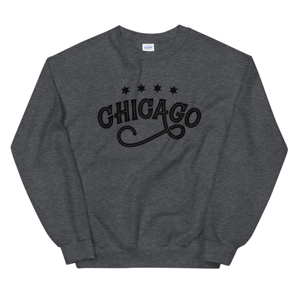 Grey Chicago Swirl Sweatshirt